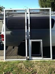 dog door insert for sliding glass door double french doors with door screen mounted pet sliding