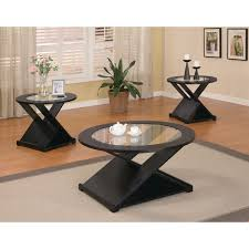 glass coffee table and end tables set collection furniture kragsta coffee table black small round