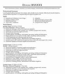 Geriatric Nurse Resume Sample Nursing Resumes Livecareer
