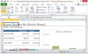 Event Budget Sample Free Event Budget Template For Excel 2013