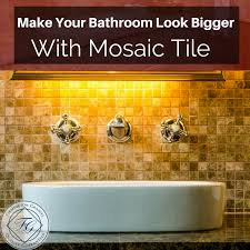 make your bathroom look bigger with