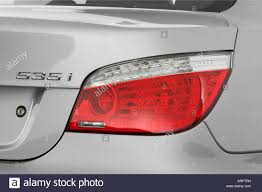 Bmw 535i Lights 2008 Bmw 5 Series 535i In Silver Tail Light Stock Photo