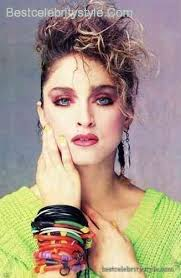 cool madonna eye makeup 80s