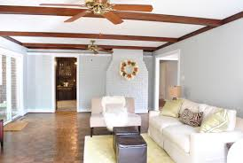 paint colors with dark wood trimHuzzah We Painted The Wood Trim In Our Living Room  Young House