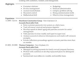 Accounts Receivable Resume Samples Sample Resume For Accounts