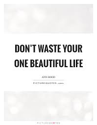 Hood Quotes About Life Don't waste your one beautiful life Picture Quotes 42