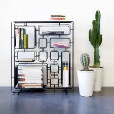 Contemporary shelf / iron / with storage compartment / bottle - PROJECT Q.