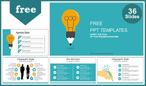 tamplate creative idea bulb powerpoint template