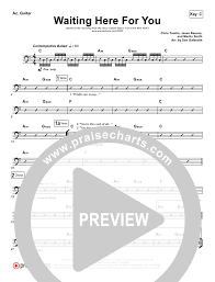 Waiting Here For You Rhythm Acoustic Guitar Chart Martin