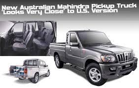 Australian Mahindra Pickup 'Looks Very Close' to U.S. Version ...
