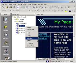 Publishing your web site to your Geocities Webpage