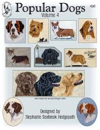 Dog Color Chart Pegasus Originals Popular Dogs Volume 4 Counted Cross Stitch Chart Collection