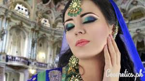 latest stani bridal eye makeup 2016 green and blue smokey eye makeup tutorial asian indian bridal