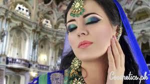latest stani bridal eye makeup 2016 green and blue smokey eye makeup tutorial asian indian bridal