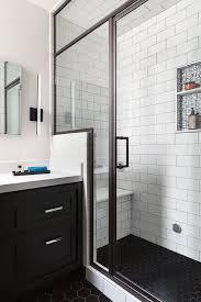 bathroom remodel san francisco. Wonderful Bathroom San Francisco Bathroom Remodel Steam Shower Black Hex Floor Tiles White  Subway Ann Sacks Tile Trim Vanity With Remodel A