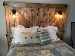 the wife wanted a barn door headboard i wanted lights and usb outlets