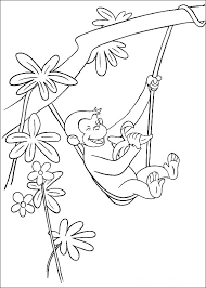 Free Curious George Coloring Pages For Kids Technosamrat