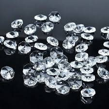 crystal beads for chandelier lamp chandelier parts octagon crystal beads in 2 hole wedding ornaments making
