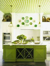 Kitchen:Marvelous Lime Green Decor For Kitchen Interior With Green Walls  And Oak Cabinets Appealing