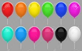 3d Rendering Colorful Floating Balloon Set Collection With Clipping