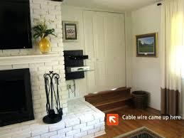 mounting tv above brick fireplace mounting on brick fireplace