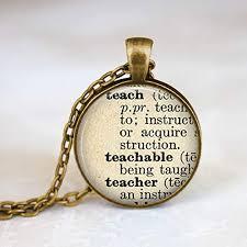 teacher necklace teacher gift