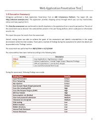 Web PenTest Sample Report