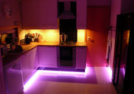 image of inspiring led kitchen lighting