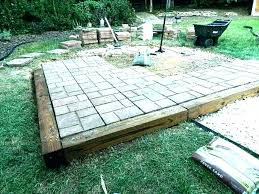 patio pavers lowes. Contemporary Pavers Patio Stones Rubber Landscaping Brick 24x24 Pavers Lowes Concrete Walkway  With Cobble Stone Next To Custom Intended Patio Pavers Lowes S