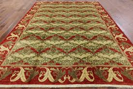 new morris collection 9x12 hand knotted olive green red oriental wool rug mc138 traditional area rugs by manhattan rugs