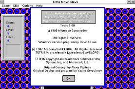 Windows Microsoft Free Download Microsoft Tetris For Windows Version 2 0 Microsoft Free
