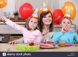 Child S Birthday Party Childs Birthday Party Stock Photo 283194034 Alamy