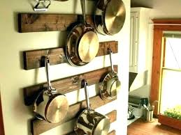wooden pan rack hooks pot hangers for kitchen pots and pans ceiling mount single bar with wooden pan rack racks wall mounted pot and hanging ceiling