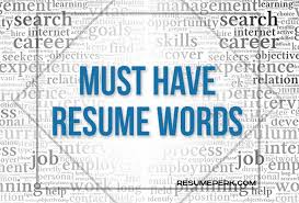 Resume Words Amazing MustHave Words For Winning Resume Resumeperk