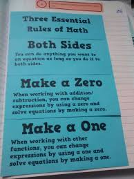 solving equations using the three essential rules of math foldable