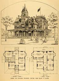 architecture design house plans. Interesting House Vintage Victorian House Plans  1879 Print Architectural  Design Floor Horace G  Inside Architecture