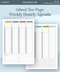 hourly agenda hourly planner printable weekly planner printable hourly 2019 planner weekly appointment planner schedule template daily planner pdf