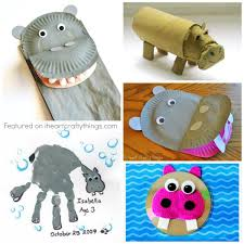 cardboard roll hippo craft patchwork pa paper plate hippo craft i heart crafty things recycled cd hippopotamus craft artsy craftsy mom