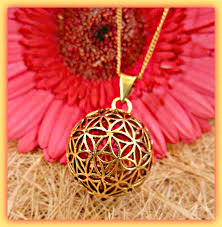 flower of life brass ball pendant necklace pngb07 cocoroots com