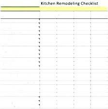 Kitchen Renovation List Bathroom Remodel Checklist Template Aylinaydemir Info