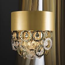 luxurious gold handmade glass ceiling light
