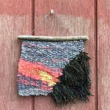 small wall tapestry pink sunset sky