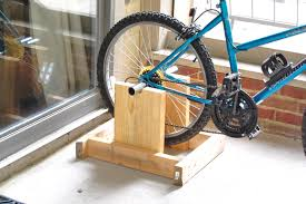 he took my regular bike and made a stand for it to sit on i can bike on the back porch