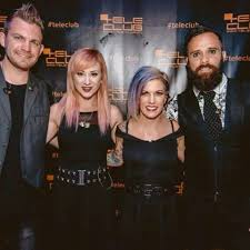 skillet concert 2016. great photo :) (credit: @teleclubbackstage) #jenledger #koreycooper #johncooper skillet concert 2016 d