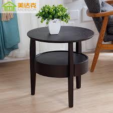 elegant small dark wood side table impressive round accent