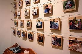 photo wall display hanging photos