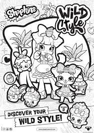 Print Shopkins Season 9 Wild Style 8 Coloring Pages Shopkins