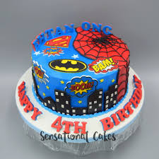 The Sensational Cakes Superman And Spiderman Heroes Combination