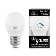 <b>Gauss led globe</b>-dim <b>E27</b> 7W 4100 K dimmbare 1/10/100 led-lampe