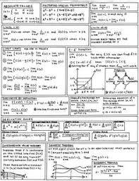 calculus review sheet trig cheat sheet cheatsheets pinterest maths school and physics